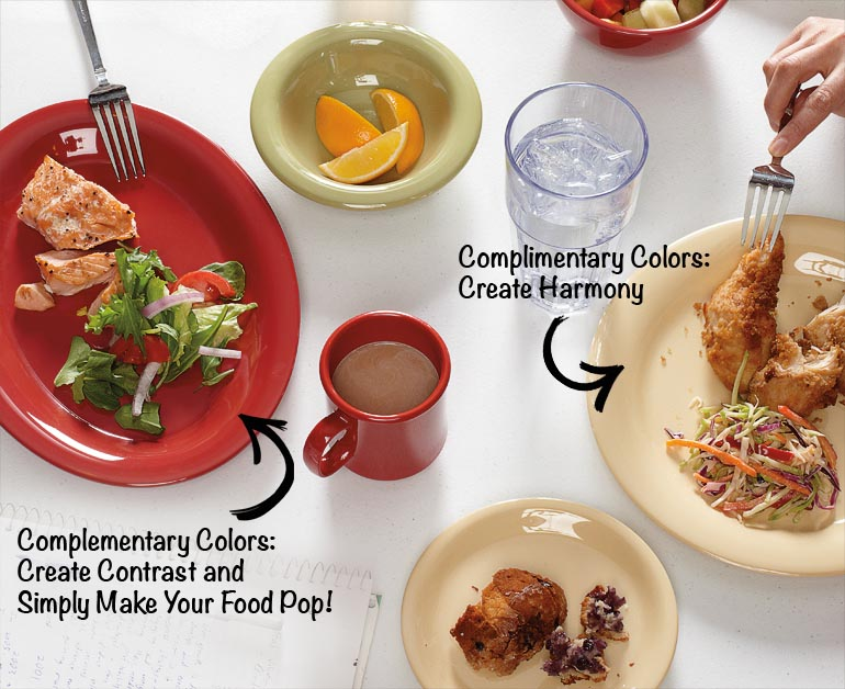how does using color with your plating affect your food presentation