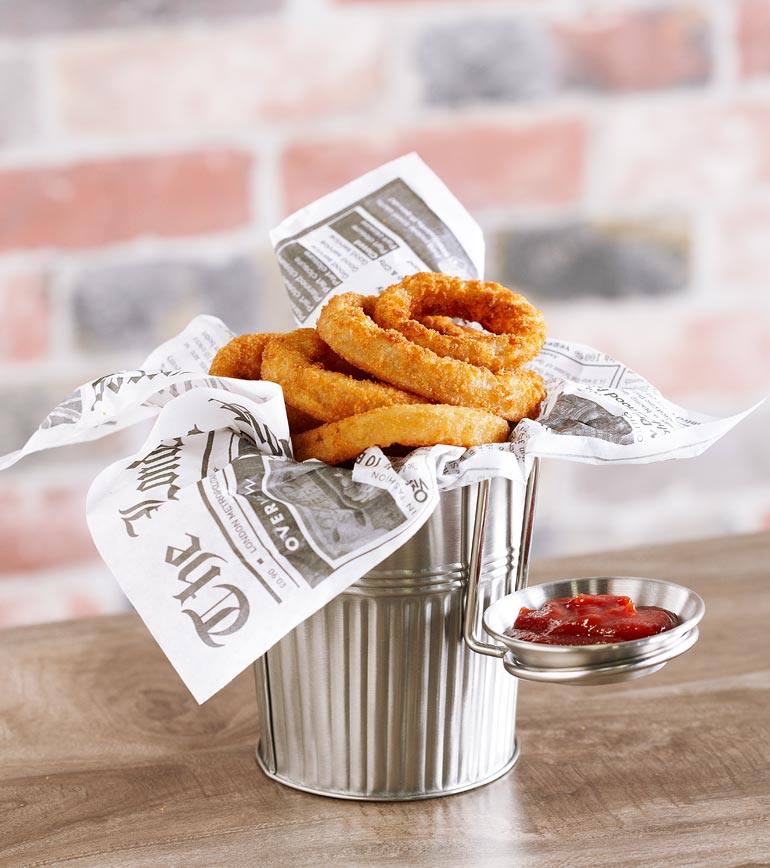 12 Creative Plating Ideas: Onion Rings