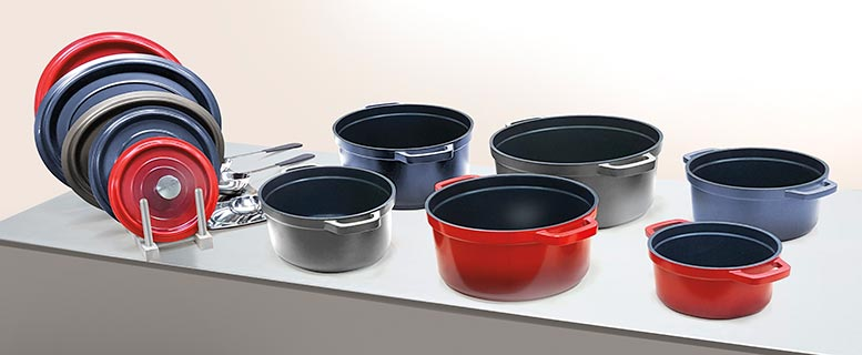 Enameled Cast Iron vs. Cast Aluminum Induction Cookware for Foodservice