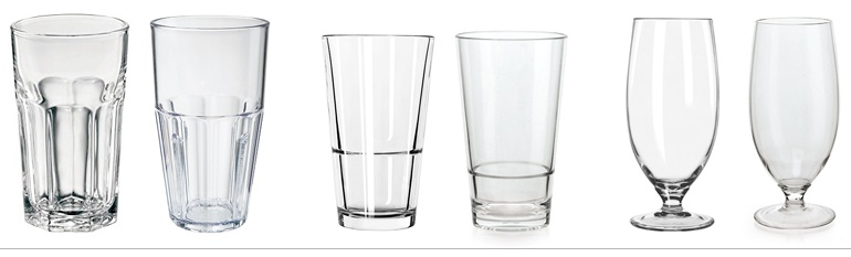Cost of Plastic vs. Glass Drinkware for Foodservice